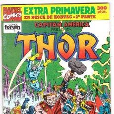 Cómics: CAPITÁN AMÉRICA - THOR EXTRA PRIMAVERA 1992 - EN BUSCA DE KORVAC. Lote 121940495
