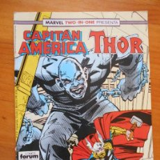 Cómics: CAPITAN AMERICA Nº 58 - MARVEL TWO-IN-ONE THOR - FORUM - CONTIENE POSTER (B1). Lote 121975407