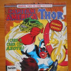 Cómics: CAPITAN AMERICA Nº 61 - MARVEL TWO-IN-ONE THOR - FORUM - CONTIENE POSTER (B1). Lote 121976283