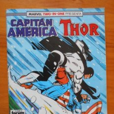 Cómics: CAPITAN AMERICA Nº 63 - MARVEL TWO-IN-ONE THOR - FORUM - CONTIENE POSTER (S1). Lote 121977511