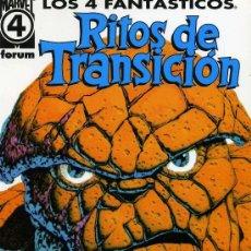 Cómics: LOS 4 FANTASTICOS RITOS DE TRANSICION - FORUM - OFI15. Lote 129586211