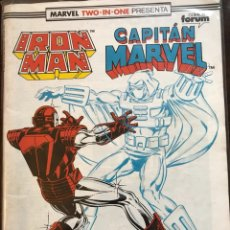 Cómics: MARVEL TWO IN ONE IRON MAN CAPITAN MARVEL 55 FORUM. Lote 122480394