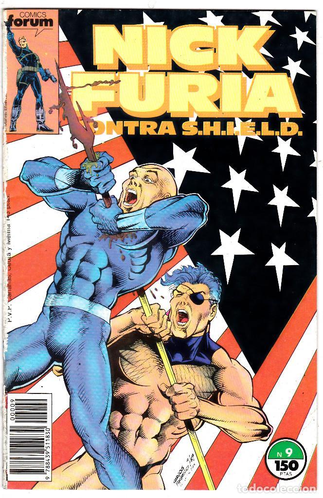 NICK FURIA AGENTE CONTRA SHIELD #9 (FORUM, 1988) (Tebeos y Comics - Forum - Furia)