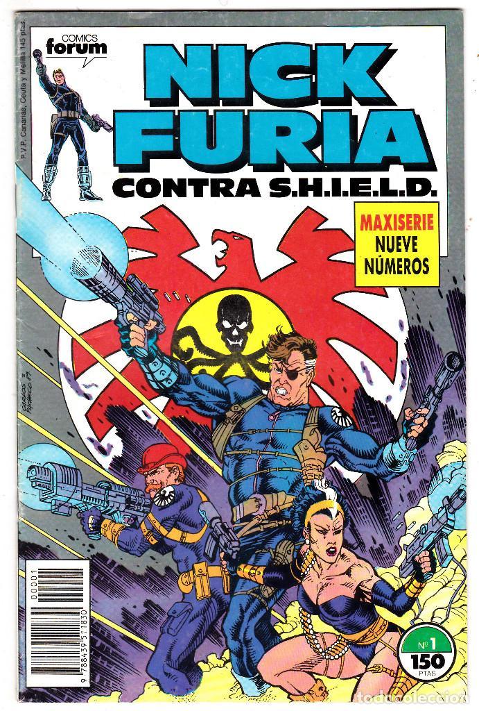 NICK FURIA CONTRA SHIELD #1 (FORUM, 1988) (Tebeos y Comics - Forum - Furia)