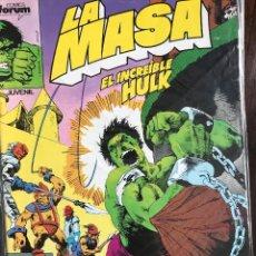 Cómics: LA MASA EL INCREIBLE HULK 43 VOL. 1 COMICS FORUM MARVEL. Lote 124021643