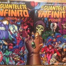 Cómics: EL GUANTELETE DEL INFINITO FORUM COMPLETA TOMOS 1 Y 2 THANOS STARLIN PÉREZ. Lote 124220330