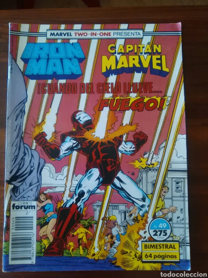 IRON MAN - CAPITAN MARVEL - NUMERO 49 - VOL 1 - MARVEL - FORUM (Tebeos y Comics - Forum - Iron Man)