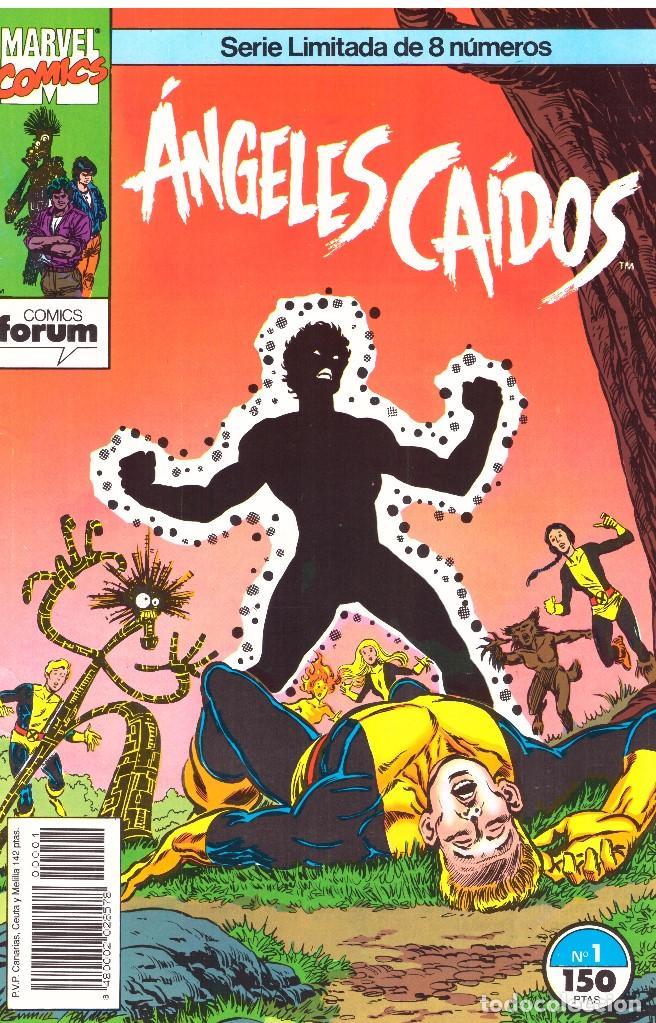 ANGELES CAIDOS. COLECCION COMPLETA: 8 NUMEROS. FORUM . NUEVOS MUTANTES (Tebeos y Comics - Forum - Nuevos Mutantes)
