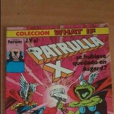 Comics: WHAT IF VOL.1 Nº20 - ¿Y SI LA PATRULLA-X SE HUBIESE QUEDADO EN ASGARD? - FORUM. Lote 224116812