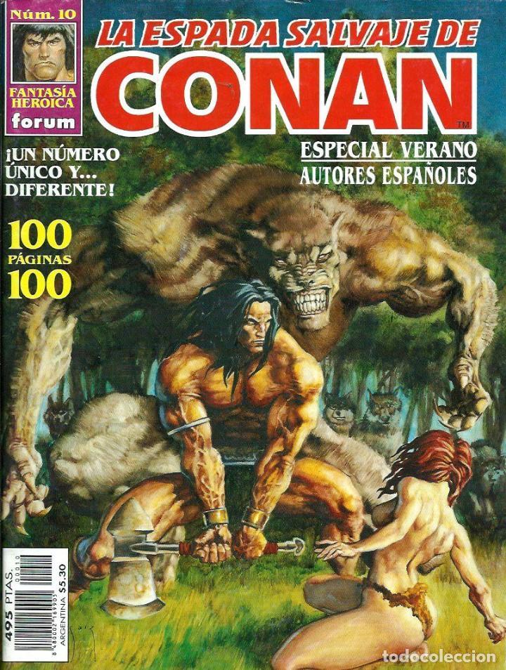 LA ESPADA SALVAJE DE CONAN NUM. 10 - ESPECIAL VERANO - AUTORES ESPAÑOLES - 100 PAG. - FORUM 1998 (Tebeos y Comics - Forum - Conan)