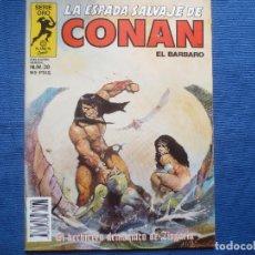 Fumetti: LA ESPADA SALVAJE DE CONAN EL BÁRBARO N.º 38 PRIMERA EDICIÓN - SERIE ORO PLANETA 1985. Lote 125269827