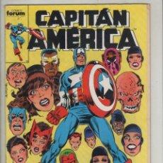 Cómics: CAPITAN AMERICA-FORUM-COLOR-AÑO 1988-FORMATO GRAPA-Nº 45-VIDA Y OBRA DE CRANEO ROJO. Lote 125396363