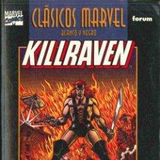Cómics: CLÁSICOS MARVEL - KILLRAVEN - B/N, 2 TOMOS. Lote 125441759