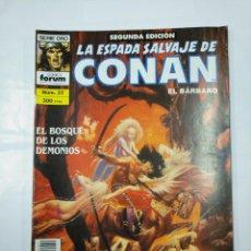 Cómics: LA ESPADA SALVAJE DE CONAN EL BARBARO. Nº 32. EL BOSQUE DE LOS DEMONIOS. SERIE ORO FORUM. TDKC32. Lote 125863059