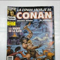 Cómics: LA ESPADA SALVAJE DE CONAN EL BARBARO. Nº 36. LA NOCHE DE LA RATA. SERIE ORO FORUM COMICS. TDKC32. Lote 125863399