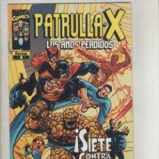 Cómics: LA PATRULLA X-LOS AÑOS PERDIDOS-SERIE DE 22Nº-AÑO 2001-FORUM-COLOR-FORMATO GRAPA-Nº 8-SOMBRAS EN..... Lote 146908158