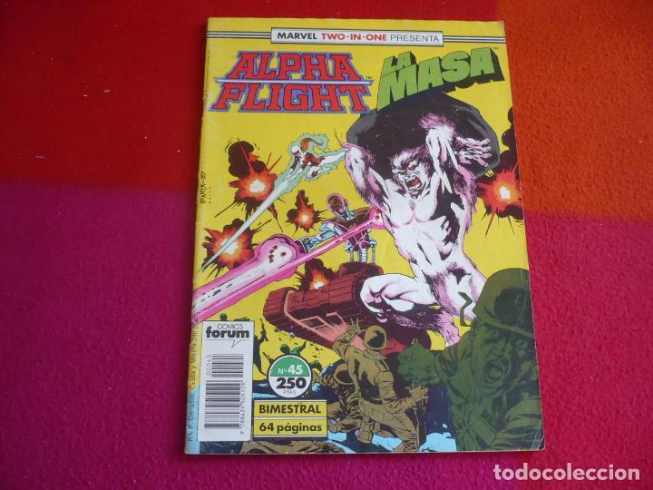ALPHA FLIGHT VOL. 1 Nº 45 ( MANTLO DAVID ) ¡BUEN ESTADO! FORUM MARVEL TWO IN ONE HULK LA MASA (Tebeos y Comics - Forum - Alpha Flight)