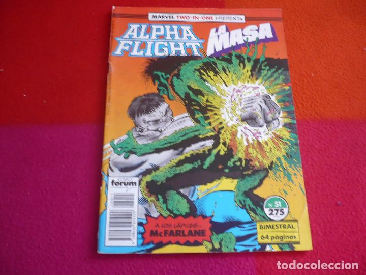ALPHA FLIGHT VOL. 1 Nº 51 ( MANTLO ) ¡BUEN ESTADO! FORUM MARVEL TWO IN ONE HULK LA MASA (Tebeos y Comics - Forum - Alpha Flight)