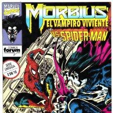 Cómics: MORBIUS EL VAMPIRO VIVIENTE NUMERO 02: VS SPIDERMAN. Lote 126316407