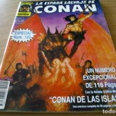 Cómics: LA ESPADA SALVAJE DE CONAN ESPECIAL 100 CONAN DE LAS ISLAS - FORUM SERIE ORO. Lote 126390975