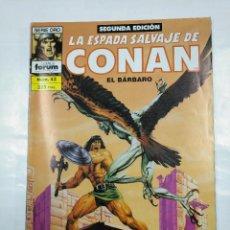 Cómics: LA ESPADA SALVAJE DE CONAN Nº 43 EL BARBARO. SEGUNDA EDICION. SERIE ORO. COMICS FORUM. TDKC24. Lote 126588623