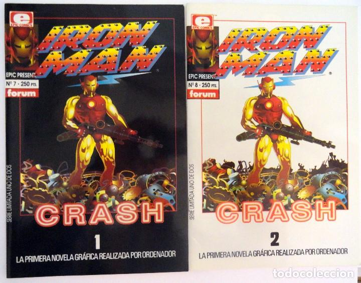 IRON MAN: CRASH. FORUM. COMPLETA 2 NÚMEROS. PLANETA DE AGOSTINI. 1992. LÍNEA EPIC. (Tebeos y Comics - Forum - Iron Man)