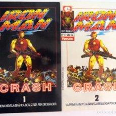 Cómics: IRON MAN: CRASH. FORUM. COMPLETA 2 NÚMEROS. PLANETA DE AGOSTINI. 1992. LÍNEA EPIC.. Lote 126891235