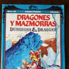 Cómics: 4 DRAGONES Y MAZMORRAS Nº 13-19-22-23 DUNGEONS & DRAGONS FORUM-PLANETA 1990 NUEVO. Lote 127152543