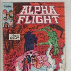Cómics: ALPHA FLIGHT-AÑO 1986-FORUM-COLOR-FORMATO GRAPA-Nº 19-CONFLICTO FINAL. Lote 127732531