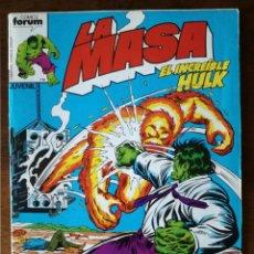 Cómics: 3 COMICS LA MASA Nº 22-23-25 EL INCREIBLE HULK-FORUM 1983 NUEVO. Lote 127973619