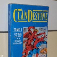 Cómics: CLANDESTINE Nº 1-2-3-4-5-6-7-8 Y 9 EN UN RETAPADO - FORUM -. Lote 128100603