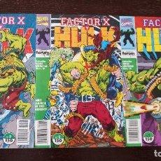 Cómics: HULK Y FACTOR X: GUERRA Y ARMAS. 1 AL 3 (COMPLETA). Lote 128410635