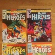 Cómics: MARVEL HEROES 31 A 34 SPIDERMAN Y PATRULLA X EN LA TIERRA SALVAJE . Lote 128890847