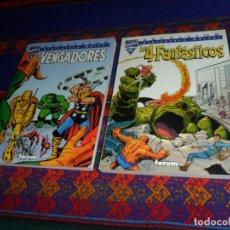 Cómics: FORUM EXCELSIOR BIBLIOTECA MARVEL LOS VENGADORES Nº 1 Y LOS 4 FANTÁSTICOS Nº 01. 2001. BUEN ESTADO.. Lote 128998527