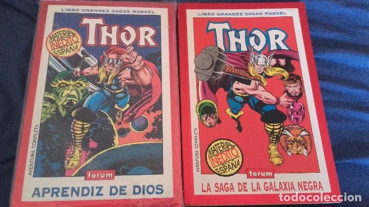 GRANDES SAGAS MARVEL THOR 2 TOMOS - APRENDIZ DE DIOS Y LA SAGA DE LA GALAXIA NEGRA - FORUM (Tebeos y Comics - Forum - Otros Forum)