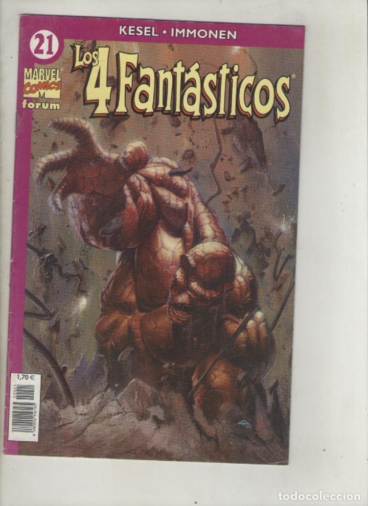 LOS CUATRO FANTASTICOS-VOL.4-AÑO 2003-FORUM-COLOR-FORMATO GRAPA-Nº 21-RECUERDOS DE LAS COSAS PASADAS (Tebeos y Comics - Forum - 4 Fantásticos)