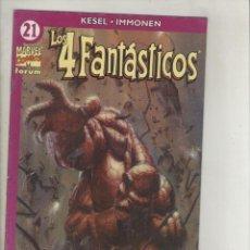 Comics : LOS CUATRO FANTASTICOS-VOL.4-AÑO 2003-FORUM-COLOR-FORMATO GRAPA-Nº 21-RECUERDOS DE LAS COSAS PASADAS. Lote 131977265