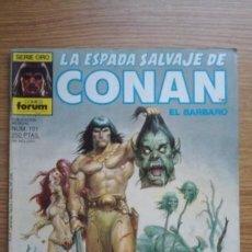 Cómics: LA ESPADA SALVAJE DE CONAN EL BÁRBARO. SERIE ORO. COMICS FORUM. EL DIOS RESBALADIZO, N° 101. Lote 130499574