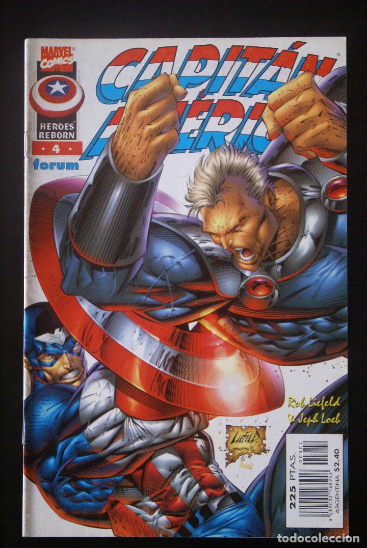 CAPITÁN AMÉRICA VOLUMEN 3/4, HÉROES REBORN, Nº 4. FORUM.1998. /VOL (Tebeos y Comics - Forum - Capitán América)