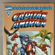 Cómics: BIBLIOTECA MARVEL - CAPITAN AMERICA Nº 10 - FORUM - EXCELENTE -. Lote 130685284
