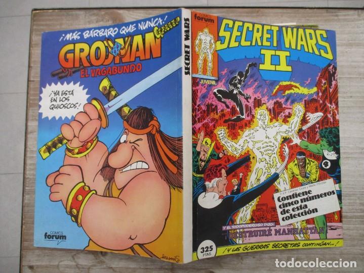 TOMO SECRET WARS II 5 EJEMPLARES DEL 16 AL 20 AMBOS INCLUIDOS EDICIONES FORUM (Tebeos y Comics - Forum - Retapados)