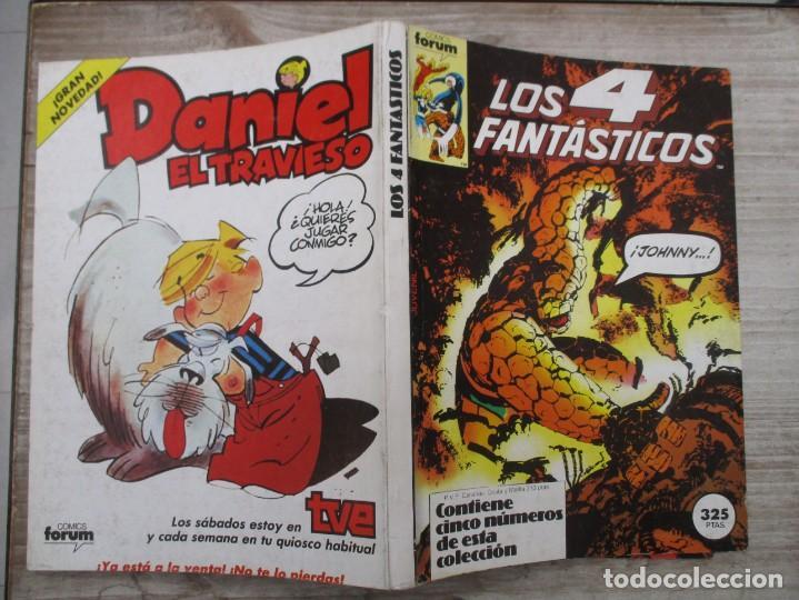 TOMO LOS 4 FANTASTICOS 5 EJEMPLARES DEL 41 AL 45 AMBOS INCLUIDOS EDICIONES FORUM (Tebeos y Comics - Forum - Retapados)