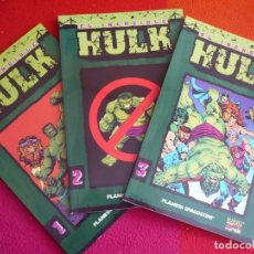 Cómics: EL INCREIBLE HULK 1, 2 Y 3 COLECCIONABLE ( PETER DAVID ) ¡MUY BUEN ESTADO! FORUM MARVEL. Lote 130897644