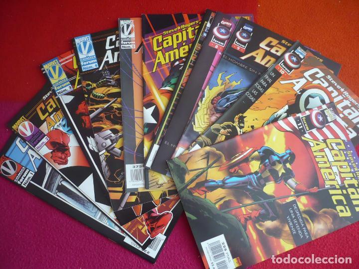 CAPITAN AMERICA VOL. 3 NºS 1 AL 11 ¡COMPLETA! ( WAID GARNEY ) ¡MUY BUEN ESTADO! FORUM MARVEL (Tebeos y Comics - Forum - Capitán América)