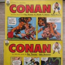 Cómics: CONAN - DAILY-STRIP - TIRAS DE PRENSA - DEL 1 AL 11 AUTORES ROY THOMAS Y JOHN BUSCEMA FORUM /. . Lote 130992248
