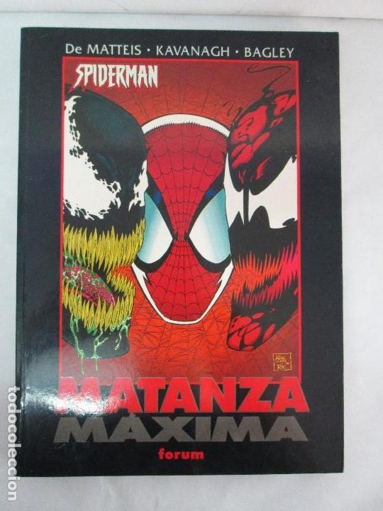 Cómics: SPIDERMAN. MATANZA MAXIMA. DE MATTEIS. KAVANAGH. BAGLEY. EDITORIAL FORUM PLANETA AGOSTINI. 1996 - Foto 2 - 131093284