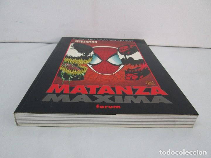 Cómics: SPIDERMAN. MATANZA MAXIMA. DE MATTEIS. KAVANAGH. BAGLEY. EDITORIAL FORUM PLANETA AGOSTINI. 1996 - Foto 4 - 131093284