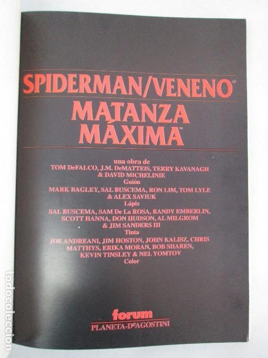 Cómics: SPIDERMAN. MATANZA MAXIMA. DE MATTEIS. KAVANAGH. BAGLEY. EDITORIAL FORUM PLANETA AGOSTINI. 1996 - Foto 7 - 131093284