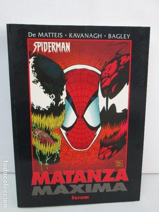 SPIDERMAN. MATANZA MAXIMA. DE MATTEIS. KAVANAGH. BAGLEY. EDITORIAL FORUM PLANETA AGOSTINI. 1996 (Tebeos y Comics - Forum - Spiderman)