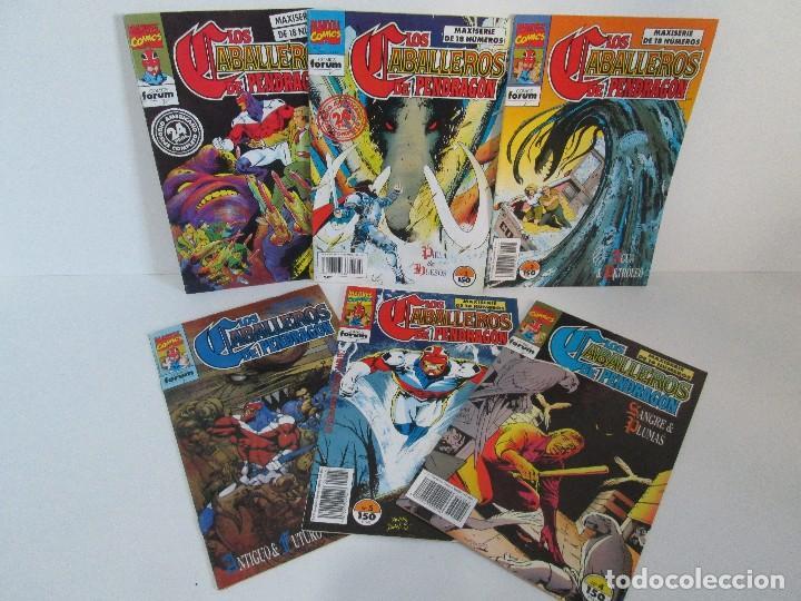 LOS CABALLEROS DE PENDRAGON. Nº 1,2,3,4,5,6. MARVEL COMICS. FORUM. 1991. VER FOTOGRAFIAS (Tebeos y Comics - Forum - Retapados)